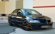 Mitsubishi Evo 16 Background Wallpaper