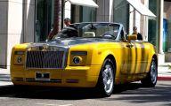 Yellow Rolls-Royce 17 Widescreen Car Wallpaper