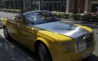 Yellow Rolls-Royce 21 Widescreen Car Wallpaper