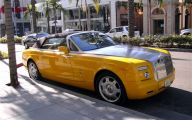 Yellow Rolls-Royce 9 Car Hd Wallpaper