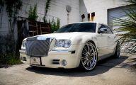 Chrysler White Car 35 Car Background