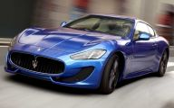 Maserati Blue Car 2 Wide Car Wallpaper