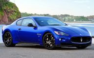 Maserati Blue Car 27 Desktop Background