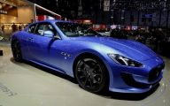 Maserati Blue Car 4 Background Wallpaper