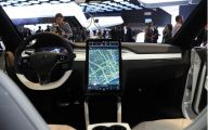 Tesla Automatic Car Display 35 Background Wallpaper
