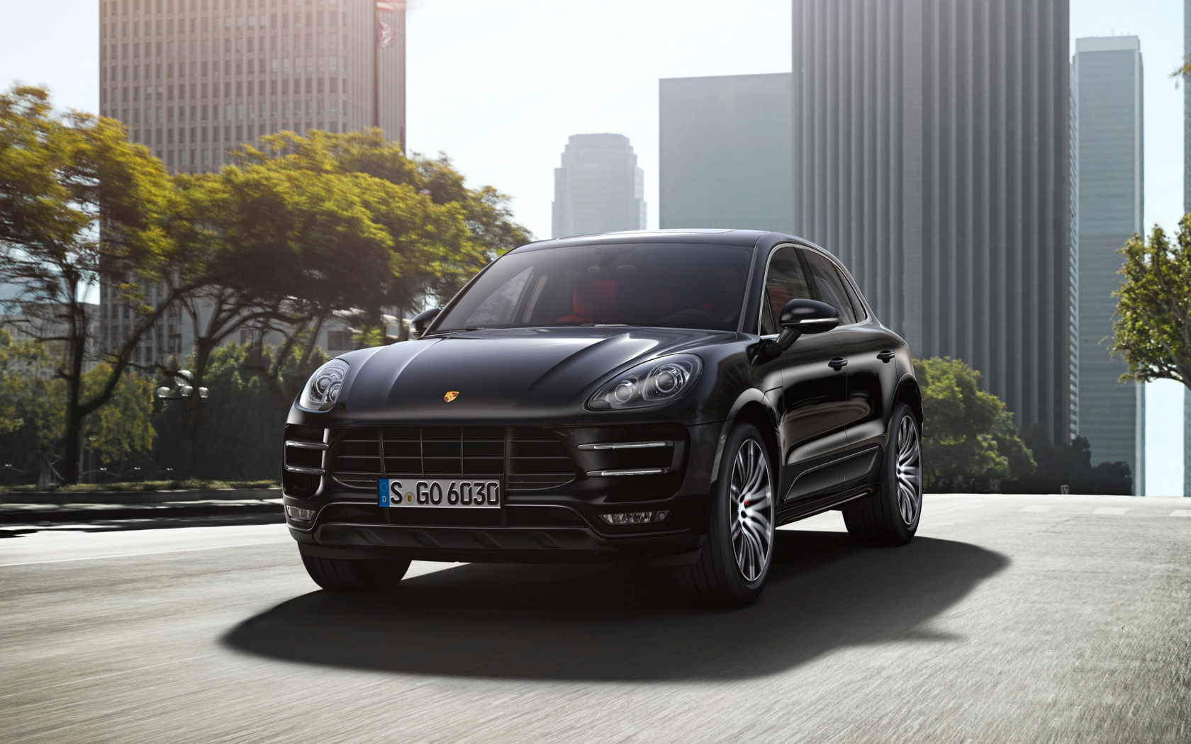 Porsche Macan Turbo 26 Car Background