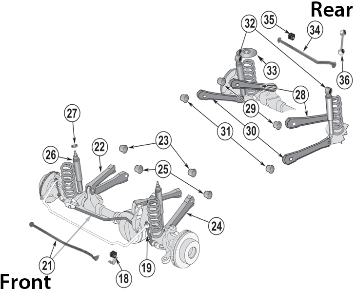 jeep rear suspension parts diagram  jeep  auto parts