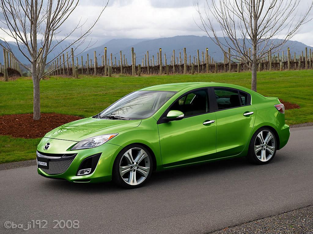 mazda green 10 car background wallpaper. Black Bedroom Furniture Sets. Home Design Ideas