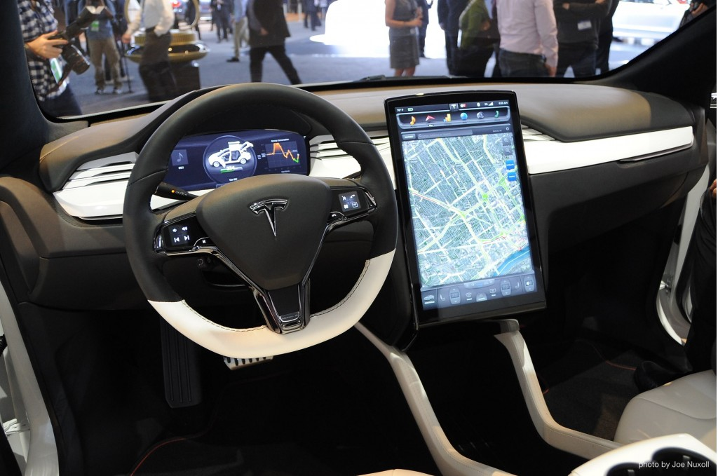 Tesla Automatic Car Display 39 Widescreen Car Wallpaper